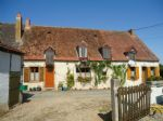 Fermette & Holiday Cottage with Outbuildings & an Acre of Level Land in a Hamlet.