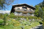A recently refurbished, chalet with independent apartment, beautiful garden and stunning views.