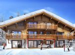 A one bedroom + 'coin nuit' apartment in a new chalet style apartment block of 8 apartments.