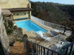 Fantastic views for this stone built house with pool.