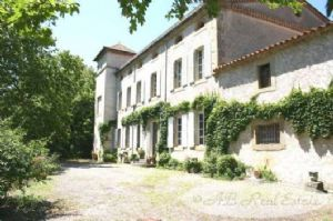 Grand style Manor house with tower, guesthouse, caretakers cottage, stables, several barns,