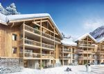2 bedroom penthouse apartment under construction 150m to cable car to Alpe d'Huez ski domain (A)