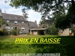 centre of village, 3 bedroom house with 1 gite, 1 outbuilding, 1 barn and garden
