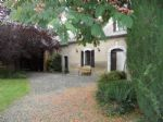 Renovated farmhouse with outbuilding, heated pool with superb view of