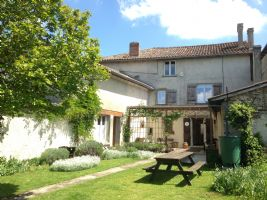 Restored town house - 3 BR, large garden & shop premises