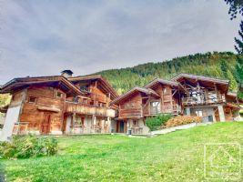 2 buildings, 8 bedrooms, 8 bathrooms, 80m2 living room, separate studio, on the ski slopes.