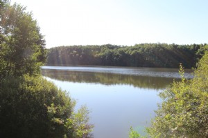 14 acre lake, campsite with main building, shower blocks, chalets etc