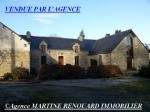 Proche Guémené s/Scorff, ensemble de 4 maisons, grange, piscine terrain 1,10 ha environ