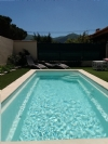 With pool, great views, privacy, and only 5 mins walk to centre