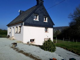Caurel, Brittany, France. Stunningly located house just 200 metres from Lake Guerledan
