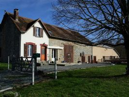 Renovated farmhouse with large barns