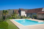 XVIIth century stone house with pool and tennis on a 7000 m2 park.