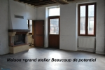 In BLARU, house with outbuildings, in need of restoration.