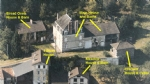 Maison Bourgeoise with gites, barns and river frontage.
