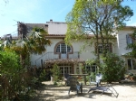 Stone built property in town center with large garden!