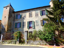 13th century chateau in village with amenities
