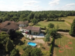 Busserolles (Dordogne) - Three bedroom farmhouse  with attached barn, pool and 2 acres of land