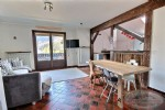 For sale, duplex apartment (F2 type) + cabin in the centre of the village of Le Biot.