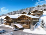 A brand new 2 bedroom + 'coin montagne' apartment with sauna, terrace and covered parking.