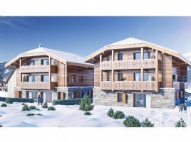 A 2 bedroom, 1 bathroom new build apartment with sunny patio, on the ski bus route