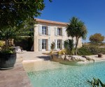 Superb renovated stone home on 6145 m² with pool, gite to renovate and breathtaking views.