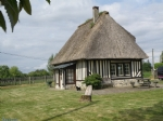 Close to Honfleur, authentic renovated thatched cottage with modern interiors.