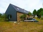 Stone farmhouse contemporary living spaces
