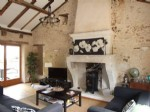 Aubeterre area. Stone built terraced cottage with courtyard garden to the rear