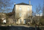 Charente. Town house next to river