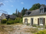 Attractive 2 bedroom stone property with lean-to and outbuilding. About 3 acres of land.