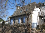 Small traditional stone built house in the Cantal