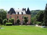 19th century Renaissance castle with park and outbuilding
