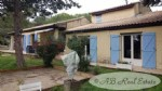 Villa, 160m², 4 bedrooms, above ground swimming pool, 3229m² mature grounds, wooden chalet,