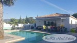 Beautiful recent villa, single story, 150m², 5 bedrooms, pool with views of the mountains,