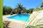 *Large villa with views of a chateau, ideal B+B or holiday home rental near Pezenas.