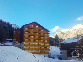 A one bedroom apartment with parking and cave, close to slopes and shops.