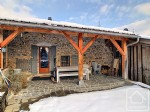 5 bedroom semi-detached farmhouse for sale on the south facing hillside above Samoëns.