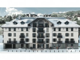 Studio apartment in a brand new development, next to the main Saint Gervais ski lift.