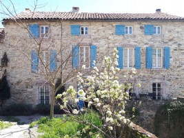 Stone 16th century mill house with annexes on 3000 m² with private access to the river.