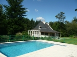 Country house with river, apartment, pool and 9 acres.