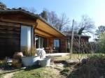 Ecological house in hamlet