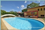 Single-story house, 4 bedrooms, 2 bathrooms + office, full basement, horse box, 4 hectare site
