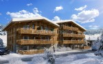 New build ski flat on the slopes Notre Dame de Bellecombe