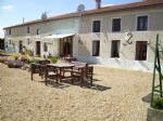 7 bed house, 2 gites, land, outbuildings. Fontaine Chalendray