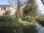 Historic river front French watermill Charente. No neighbours. Pool