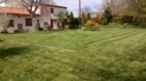 A charming, mostly renovated house 91 m², 2 bedrooms, secluded garden, 79130 Le Retail