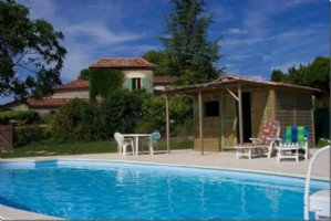 Chalais region. Character stone house, gite, swimming pool and stunning views