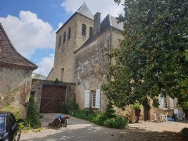 Chateau in the dordogne countryside