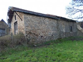 Vallée du Lot - House and barn to renovate