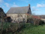 Detached house for sale to renovate located in village in brittany, south facing